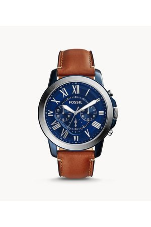 Fossil Men's Grant Chronograph Light Leather Watch