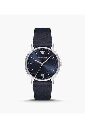 Armani Emporio Men's Emporio Three-Hand Leather Watch
