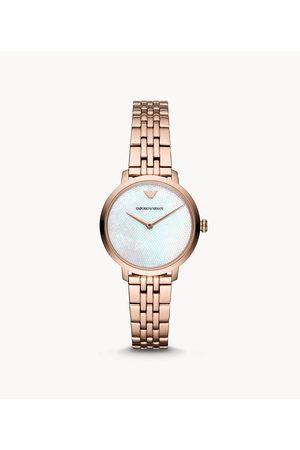 Armani Emporio Women's Emporio Women's Two-Hand -Tone Stainless Steel Watch