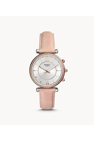 Fossil Women's Hybrid Smartwatch Carlie Blush Leather