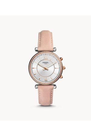 Meli Melo Women Smart Watches - Fossil Women's Refurbished Hybrid Smartwatch Carlie Blush Leather