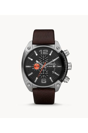 Diesel Men's Men's Overflow Chronograph Leather Watch