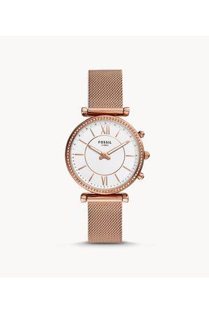 Fossil Women's Hybrid Smartwatch Carlie -Tone Stainless Steel