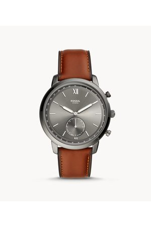 Fossil Men's Hybrid Smartwatch Neutra Amber Leather