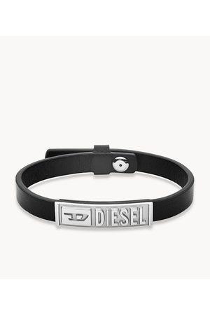 Diesel Men's Leather ID Bracelet