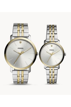 Brands Fossil Men's His And Her Lux Luther Three-Hand Two-Tone Stainless Steel Watch Gift Set - /Gold