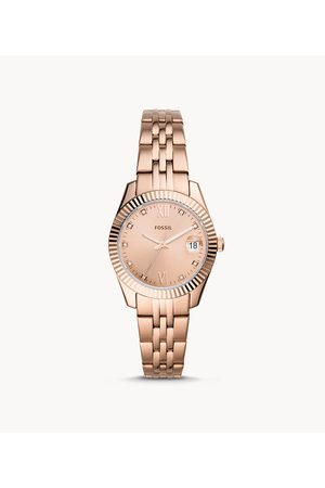 Fossil Women's Scarlette Mini Three-Hand Date -Tone Stainless Steel Watch