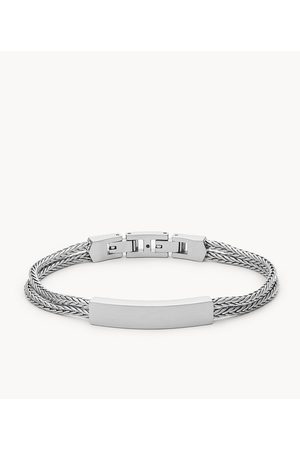 Fossil Men Bracelets - Men's Stainless Steel Id Bracelet
