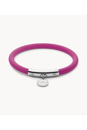 Skagen Women's Blakely Pink Silicone and -Tone Bracelet