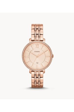 Womens Fossil Women's Jacqueline Rose-Tone Stainless Steel Watch