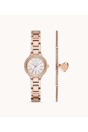 Michael Kors Women's Taryn Three-Hand -Tone Stainless Steel Watch Set