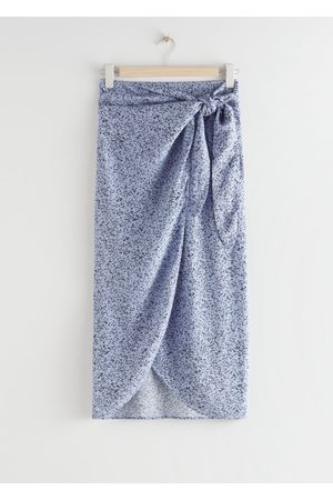 & OTHER STORIES Scarf Tie Maxi Wrap Skirt