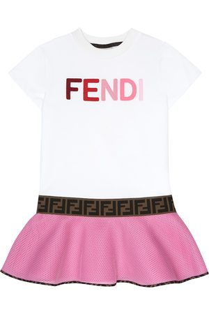 Fendi Logo cotton-neoprene dress