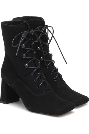 By Far Claude lace-up suede ankle boots