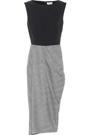 Alexander McQueen Sleeveless wool and cashmere dress