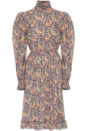 Serafini Floral cotton midi dress