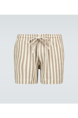 Commas Solar striped swim shorts