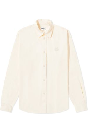 Kenzo Tiger Crest Twill Button Down Shirt