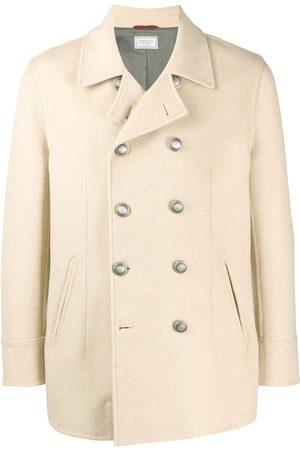 Brunello Cucinelli Cashmere double-breasted coat - Neutrals