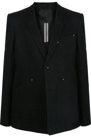 Rick Owens Paneled one-button blazer