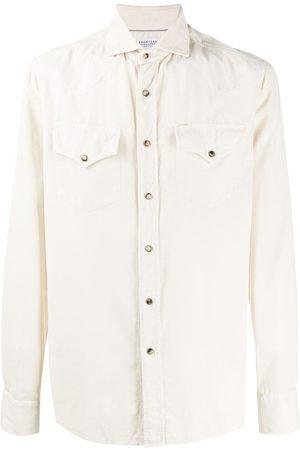 Brunello Cucinelli Two-pocket long-sleeved shirt - Neutrals