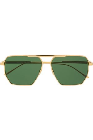 Bottega Veneta Square-frame aviator sunglasses