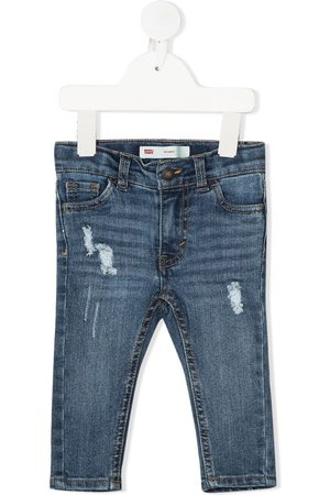 Levi's Straight leg ripped detail jeans