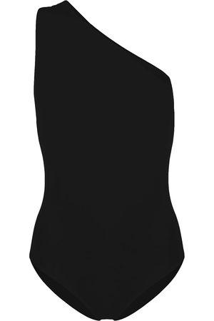 Bottega Veneta Cut-out one shoulder swimsuit