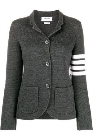 Thom Browne Links Stitch Classic SB Sport Coat 2/ 4 Bar In Fine Merino Wool - Grey