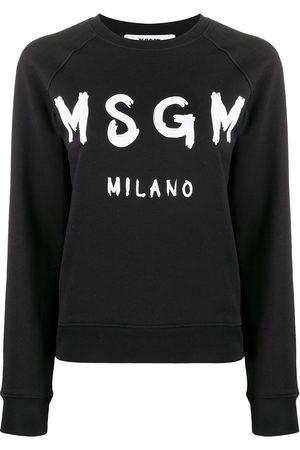 Msgm Logo print raglan sweatshirt
