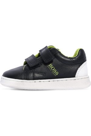 HUGO BOSS Faux Leather Strap Sneakers