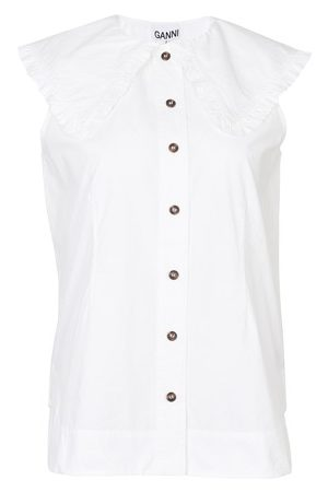Ganni Cotton sleeveless shirt