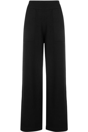 Barrie Women Wide Leg Pants - Knitted flared trousers