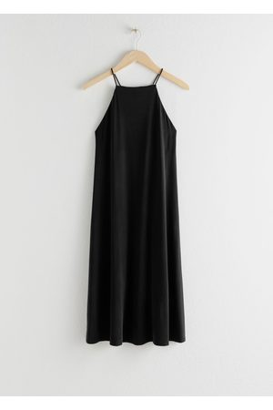 & OTHER STORIES Flowy Square Neck Midi Dress