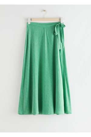 & OTHER STORIES Tie Wrap Midi Skirt