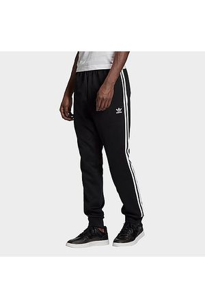 adidas Men Sweatpants - Men's Classics Adicolor Primeblue SST Track Pants in Black/Black