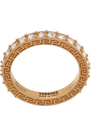 VERSACE Greca crystal ring