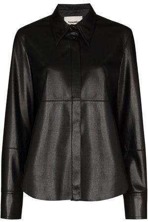 Nanushka Button-up long-sleeve shirt