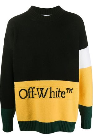 OFF-WHITE Colour-block logo detail jumper