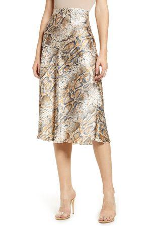 Vero Moda Women's Christas Satin Midi Skirt