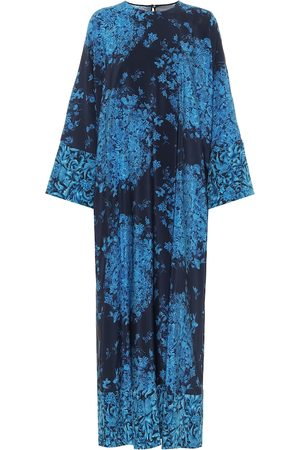 VALENTINO Printed crêpe de chine midi dress