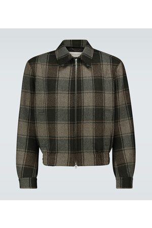 DRIES VAN NOTEN Checked wool jacket