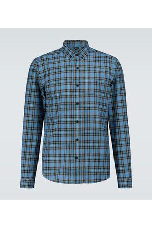 Ami Checked long-sleeved shirt