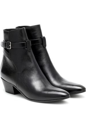 Saint Laurent West Jodhpur 45 leather ankle boots