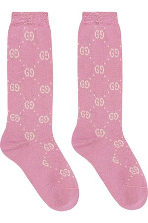 Gucci Lamé cotton-blend socks