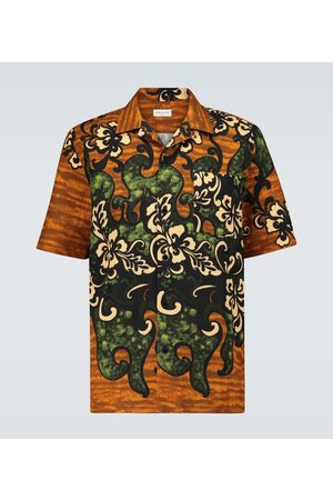 DRIES VAN NOTEN Men Short sleeves - Floral printed shirt