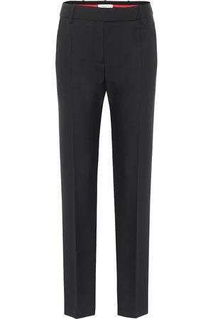 VALENTINO High-rise slim wool-blend pants