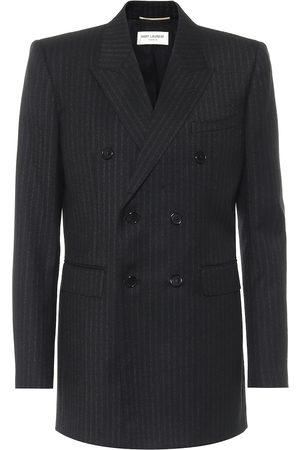 Saint Laurent Pinstriped wool double-breasted blazer