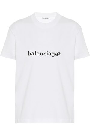 Balenciaga Women Short Sleeve - Logo cotton-jersey T-shirt