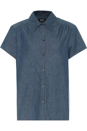 A.P.C Cléo checked denim shirt